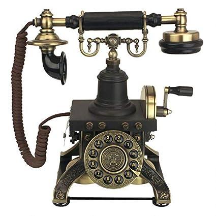Design Toscano Antique Phone - The Eiffel Tower 1892 Rotary Telephone -  Corded Retro Phone - Vintage Decorative Telephones