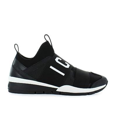a1352cc38e3 Dsquared2 Chaussures Homme Baskets Icon Néoprène Noir Automne-Hiver ...
