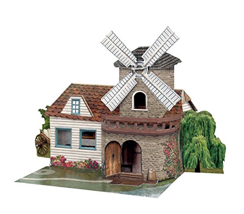 Santoro Pop Up Places 3D Greeting Card - Windmill