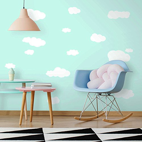 RoomMates RMK1562SCS Clouds (White Bkgnd) Peel and Stick Wall (Cloud Wall Stickers)