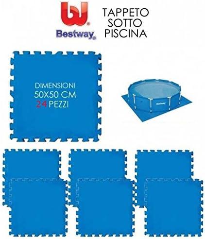 Bestway - Alfombras puzzle de goma para suelo de piscina, de 50 x ...