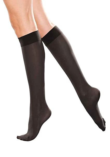 b95f5af68 Therafirm Knee High Support Stockings - 20-30mmHg Moderate Compression  Nylons (Black