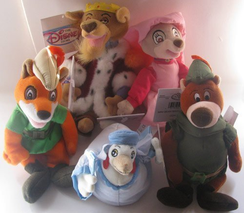 (Disney Bean Bag Plush Robin Hood and Friends Set of 5)