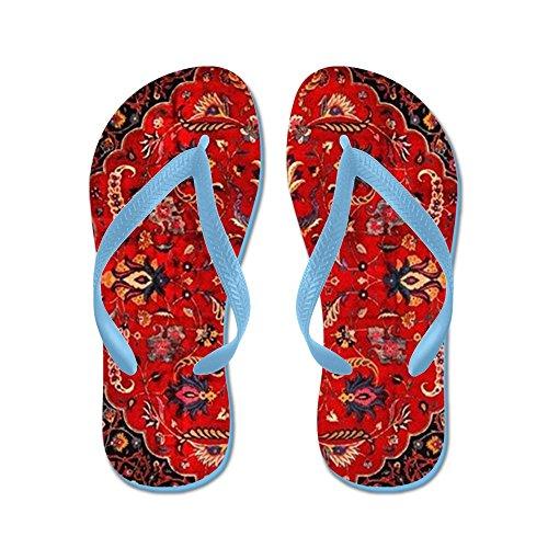- CafePress - Persian Mashad Rug - Flip Flops, Funny Thong Sandals, Beach Sandals Caribbean Blue