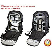 3 in 1 DJI Drone Backpack for Phantom 3/4 , Drone Camera Bag or Travel Backpack with 4 Free Protective Sheath for Crankshaft