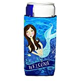 Caroline's Treasures VHA3010MUK Welcome Mermaid Michelob Ultra Koozies For Slim Cans, Multicolor