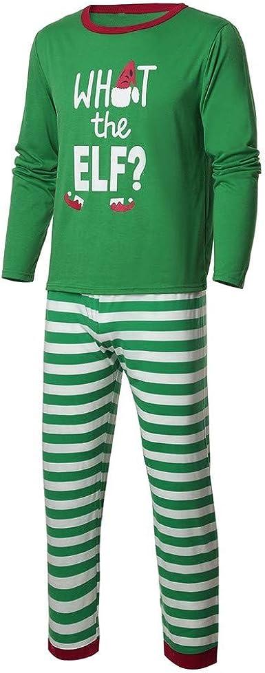 Trisee Navidad Conjunto de Pijama Familia, Camiseta Estampada ...