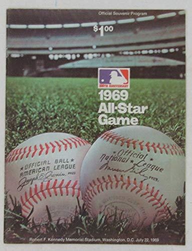 (1969 MLB All Star Game Official Program Robert F. Kennedy Memorial Stadium)