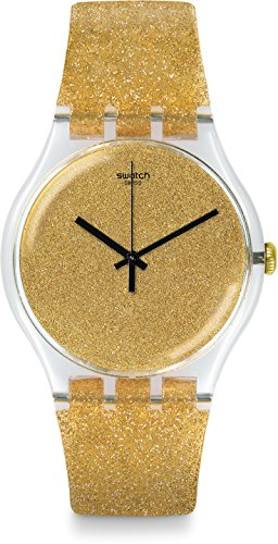 Swatch Women's 41mm Gold-Tone Plastic Band & Case Quartz Analog Watch SUOK122
