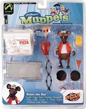 (The Muppets Series 4 Action Figure Rizzo Red Jacket by Palisades)