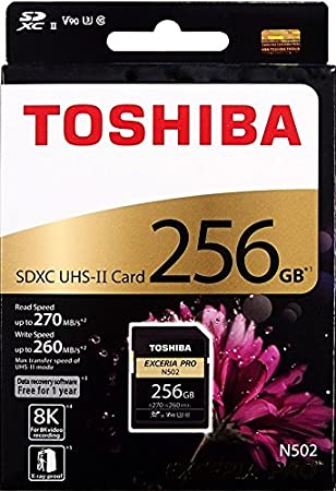 Amazon.com: TOSHIBA EXCERIA PRO N502 256GB SD Memory Card ...