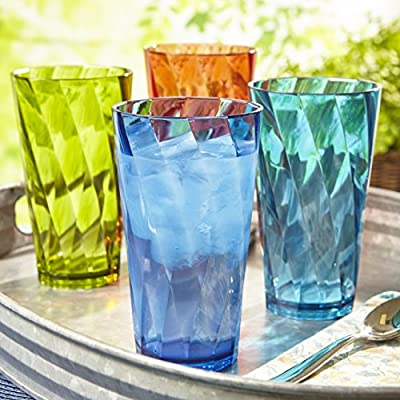 Optix Break-resistant Plastic Tumblers | set of 8 in 4 assorted colors