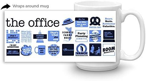 The Office Quote Mash-Up White Mug - 15 oz  - Official Coffee Mug