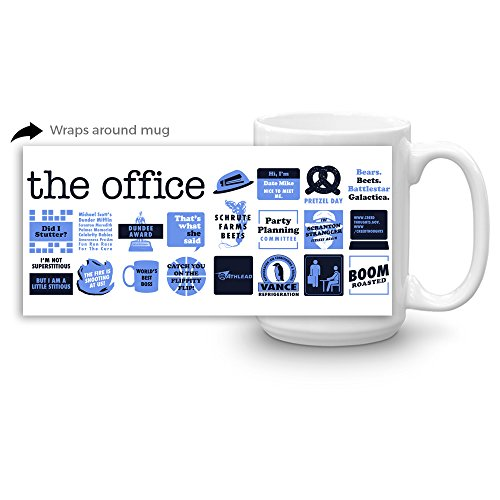 The Office Quote Mash-Up White Mug - 15 oz. - Official Coffee Mug