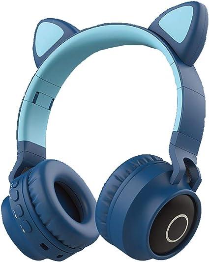 Fin del desierto Altavoz Bluetooth Auriculares de Oreja de Gato Auriculares Auriculares inalámbricos Bluetooth Chica Auriculares Lindos y Brillantes (Color: Rosa) (Color : Blue Green): Amazon.es: Electrónica