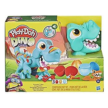 Play-Doh Dino Crew Crunchin' T-Rex Toy for Children 3 Years and Up with Humorous Dinosaur Sounds and three Eggs, 2.5 Ounces Every, Non-Poisonous
