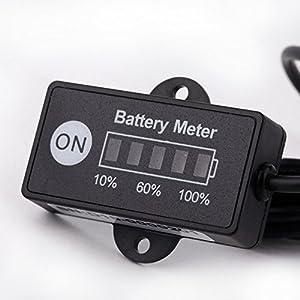 kkmoon led digital batteriestatus ladeanzeige monitor. Black Bedroom Furniture Sets. Home Design Ideas