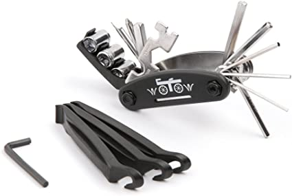 WOTOW 16 in 1 Multi-Function Bike Bicycle Repair Tool Kit Allen Wrench With 3...