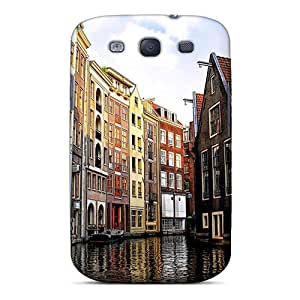 New LOpsr21604PieCn Amstardam Canal In Venice Tpu Cover Case For Galaxy S3