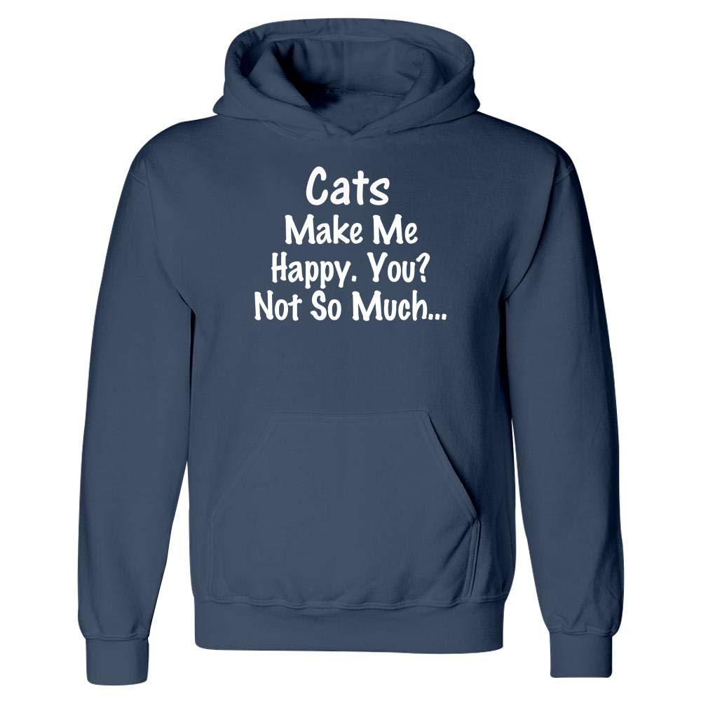 Animal Gift Cats Make Me Happy Hoodie Pet Feline Kitten