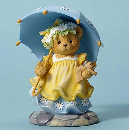 Teddy Enesco Bear - Cherished Teddies May Happiness Rain on You Always Teddy Bear Figurine CT1601