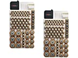 Battery Organizer Storage Case by Range Kleen Holds 82 Batteries Various Sizes WKT4162 Removable Battery Tester