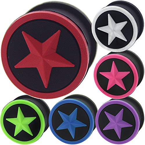 7/8 Inch gauges Ear Plugs Silicone Flesh Tunnels Double Flare Expander Stretcher Taper MoDTanOiz 22mm