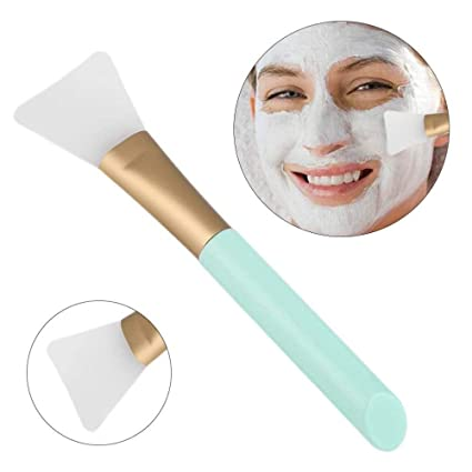 LVEDU - Cepillo de silicona para máscara facial, herramienta de belleza de silicona suave para