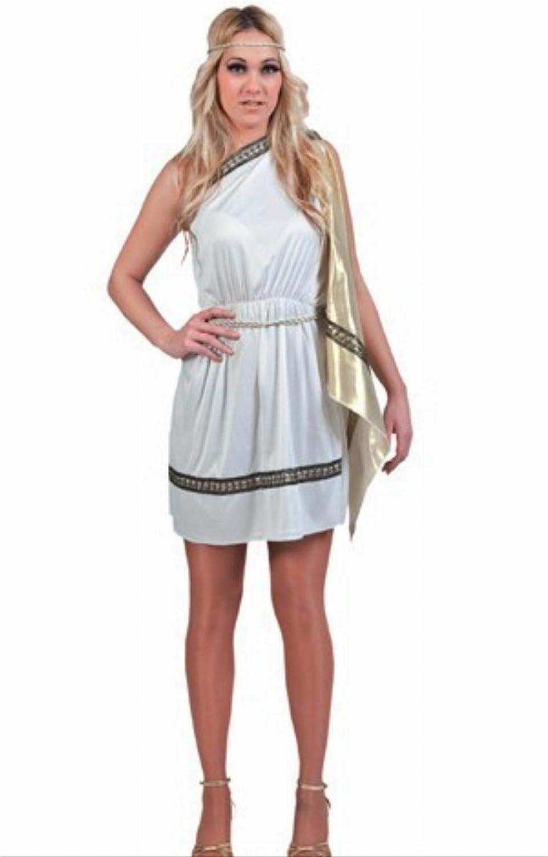 Fyasa 700719 Lady disfraz romano, Blanco, Grande: Amazon.es ...