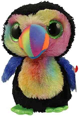 21af24ea6df TY Beanie Boos BEAKS the colorful Toucan Plush 6   15cm (Blue funchop with