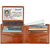 Wallet for Men-Genuine Leather RFID Blocking Bifold Stylish Wallet With 2 ID Window (Tan)