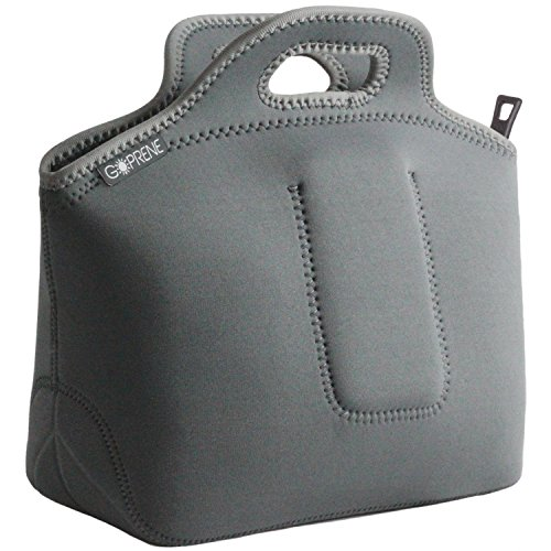 Neoprene Lunch Bag by GOPRENE | GREY | X-LARGE | Insulated R
