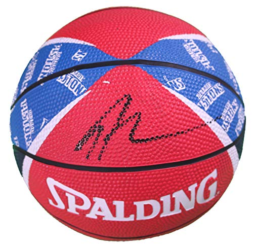 Andre Drummond Detroit Pistons Signed Autographed Spalding Pistons Logo Mini Basketball