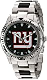Game Time Men's 'Heavy Hitter'  Metal and Alloy Quartz Analog  Watch, Color:Silver-Toned (Model: NFL-HH-NYG)
