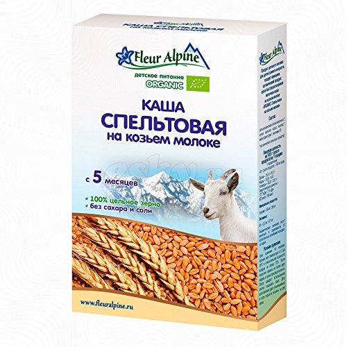 Fleur Alpine Organic Gluten Free Baby Cereal, 6.17 oz/ 175 g (Spelt w/ Goat Milk)