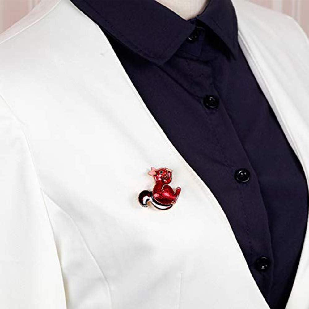 Ogquaton 1X Bijoux Broche Femmes Corsage /Écureuil Rouge De Mari/ée Broche Robe De Robe Foulards Ch/âle Clip Sac Ornement Cadeau De No/ël Pratique et Populaire