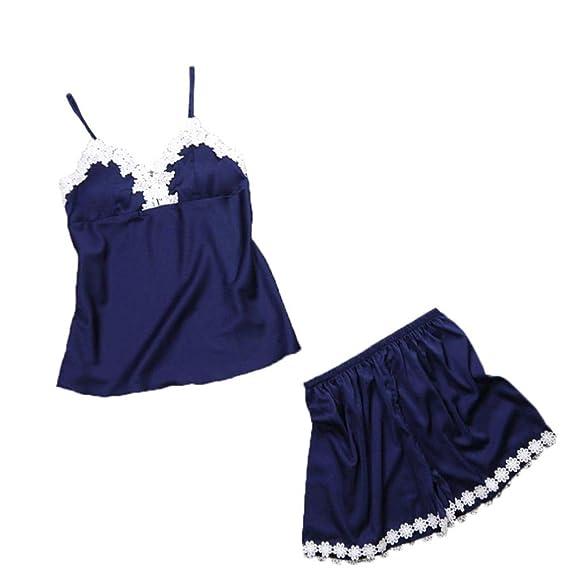 Lencería Ropa de Dormir Mujeres,Ropa Interior de Encaje Sexy Babydoll Robe Set