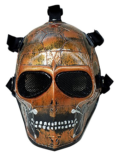 Invader King  Airsoft Mask Army of Two Protective Gear Outdoor Sport Fancy Party Ghost Masks Bb Gun (Terminator) -