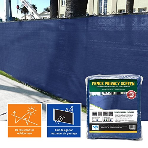 Privacy Fence Screen 85% (6 ft. x 50 ft, Navy Blue)