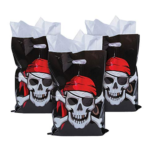 Fun Express Large Plastic Pirate Loot Bags - 50 Pieces