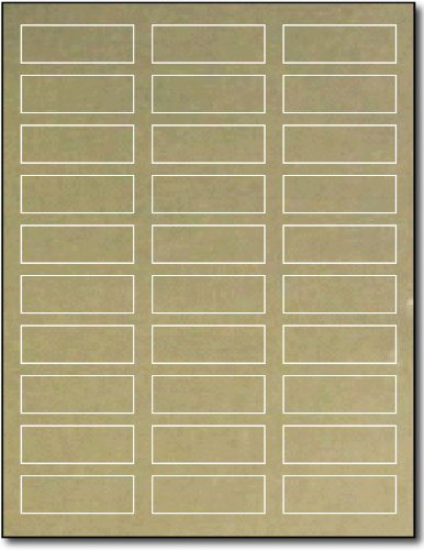 "3/4"" x 2 1/4"" Gold Foil Labels for Laser Printers - 10 Sheets / 300 Labels"