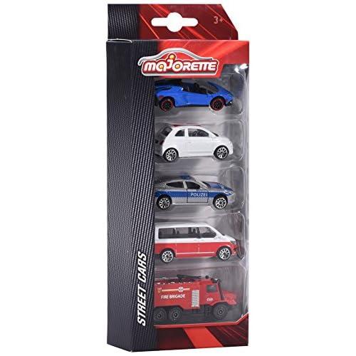 Majorette 212053166de 5pieces set de véhicules miniature, Lot de 5, 4différents modèles, Die-Cast–7,5cm