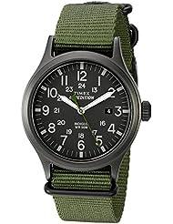 Timex Mens TW4B04700 Expedition Scout Green Nylon Slip-Thru Strap Watch