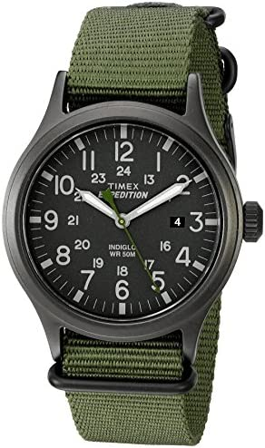[Sponsored] Timex Men's TW4B04700 Expedition Scout Green Nylon Slip-Thru Strap Watch