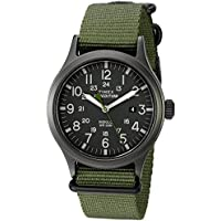 Timex Men's TW4B04700 Expedition Scout Green Nylon Slip-Thru Strap Watch