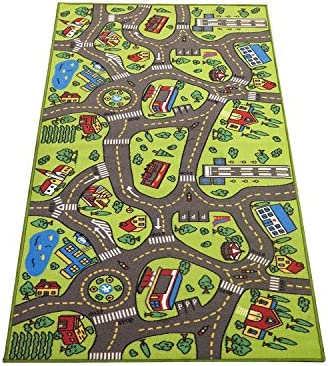Extra Large 6.6 Feet Long! Kids Carpet Playmat Rug | City Life, Great To Play with Cars & Toys – Have Fun! Safe, Learn, & Educational -Ideal Gift For Children Baby Bedroom Play Room Game Play Mat Rugs