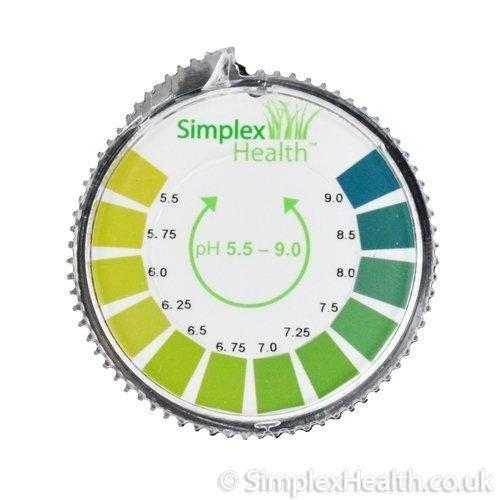 4 opinioni per Simplex Health, Indicatore di pH, Test con rotolo di strisce di carta,