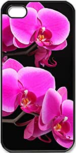 iPhone 4/4s Case,Orchids Case for Black iPhone 4 4s
