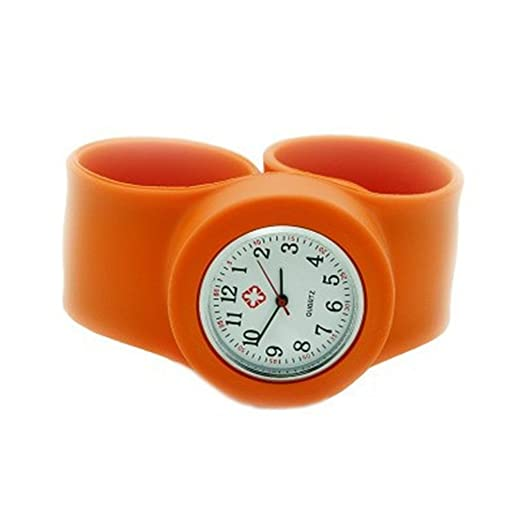 Orange Fancy Slap Watch Teen or Adult Sized