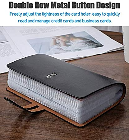 Leather 40 Card Commercial Name ID Credit Card Book Case Holder Organizer SP OS